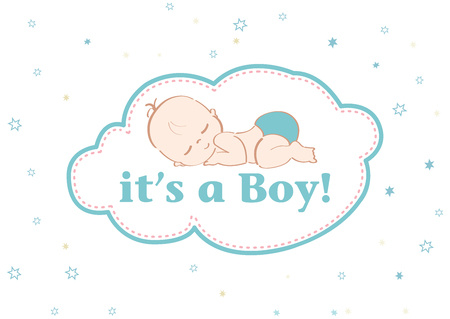 Its a Boy! Beautiful card to celebrate the new family member. In a pastel stars background!