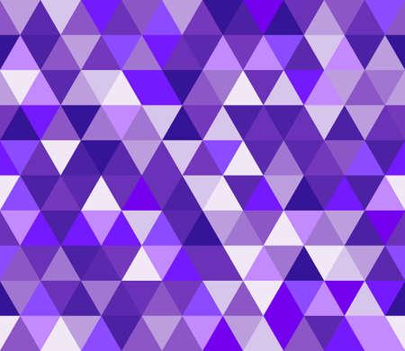 Purple and blue triangular seamless pattern. Geometric vector background. Polygonal mosaic decorative backdrop.