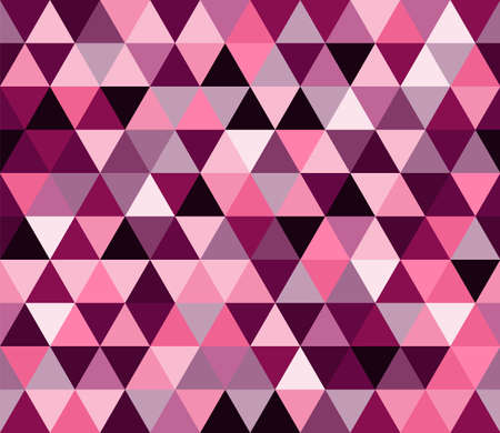 Magenta purple triangular seamless pattern. Geometric vector background. Polygonal mosaic decorative backdrop. Easy to edit design template for your artworks.
