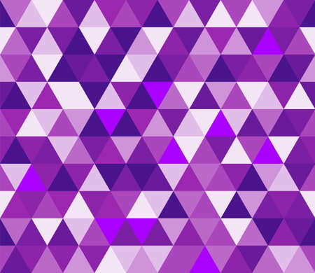 Purple triangular seamless pattern. Geometric vector background. Polygonal mosaic decorative backdrop. Easy to edit design template for your artworks.