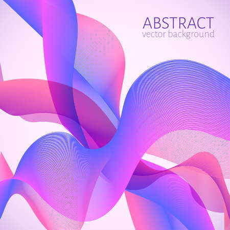 Colorful moving wavy lines. Abstract bright wave background. Easy to edit design template for your artworks.