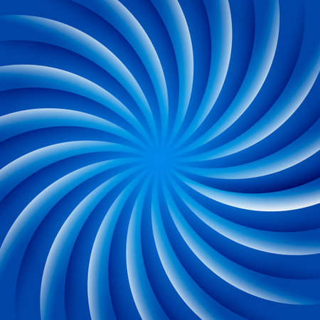 Blue and white rotating hypnosis spiral optical illusion. Stock Vector - 97071527