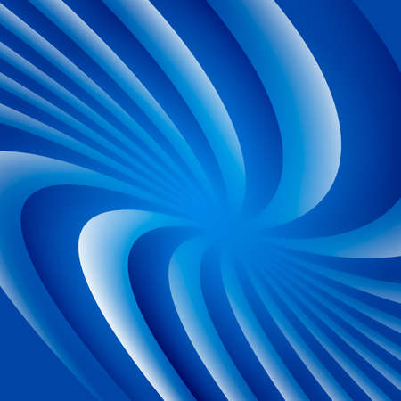 Blue and white rotating hypnosis spiral optical illusion which is twisted sidewards