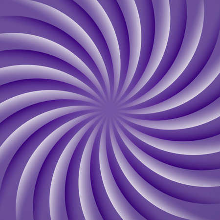 Ultra violet and white rotating hypnosis spiral. Optical illusion. Illustration