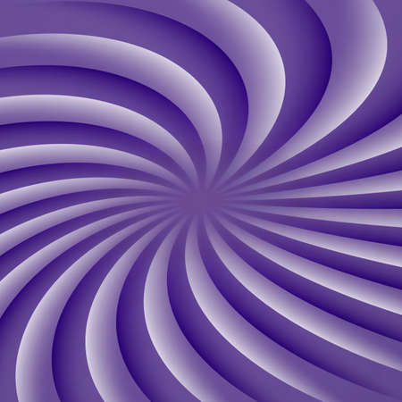 Ultra violet and white rotating hypnosis spiral. Optical illusion. Stock Vector - 97348863