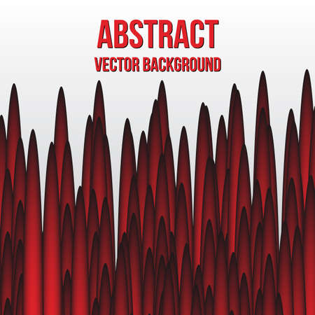 Red bars on a white. Abstract vector background. Easy to edit design template for your presentations.