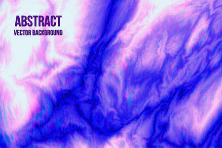 Blue purple white smooth marble texture glitch vector background. Painting effect.