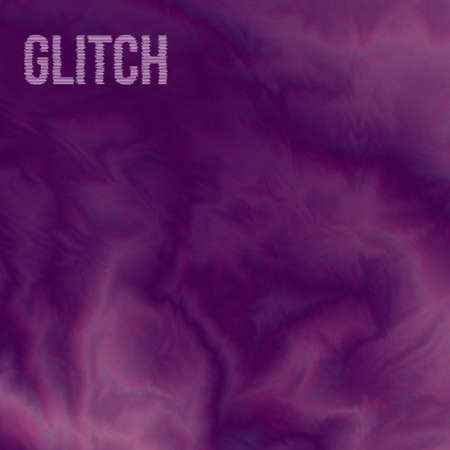 Glitch background. Pink purple color diffusion.  Watercolor painting digital effect. Grunge vector illustration. Marble texture. Easy to edit design template for your projects. Illustration