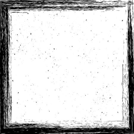 Hand drawn grunge frame. Square border painted with brush. Copy space for social media story or post layout. Easy to edit vector template for your design. Illustration