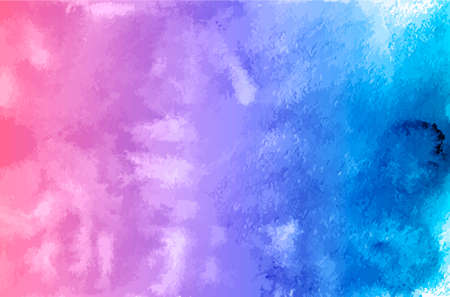 Fondo de vector de textura acuarela. Cuadro de acuarela degradado azul púrpura. Manchas de acuarela de colores. Papel de scrapbooking. Plantilla fácil de editar para sus obras de arte.