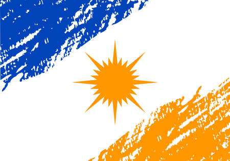 Grunge flag of state Tocantins, Brazil.