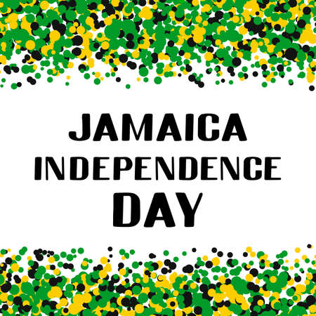 Jamaica Independence Day typography poster. Jamaican holiday celebrated on August 6. Vector template for, banner, greeting card, flyer, etc.