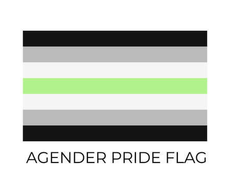 Agender Pride Flag. Symbol of LGBT community. Vector flag identity. Easy to edit template for banners, signs, design, etc.