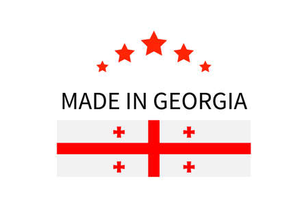 Made in Georgia label. Ilustracja