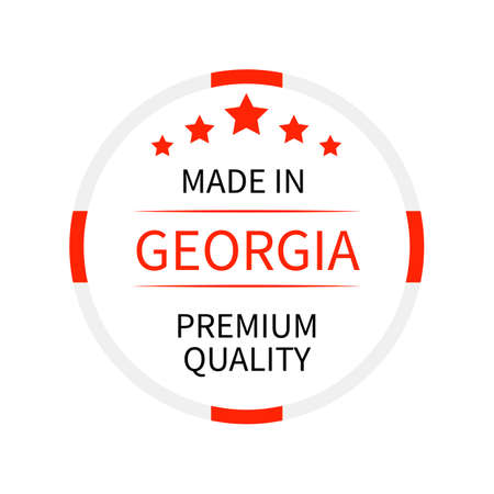 Made in Georgia round label.