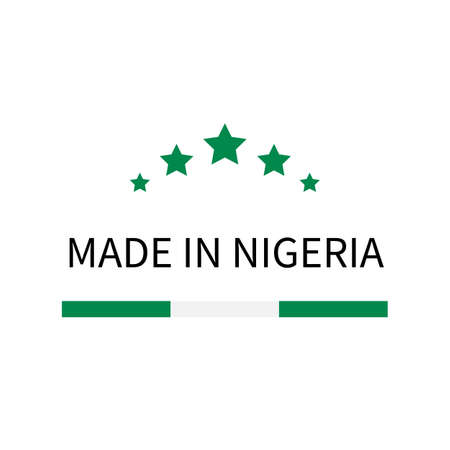 Made in Nigeria label. Ilustracja