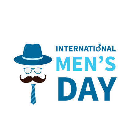 International Men s Day lettering isolated on white. Holiday celebrate on November 19. Vector template for typography poster, banner, flyer, sticker, t-shirt, greeting card, etc.