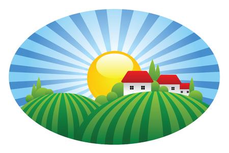 dorp Vector Illustratie