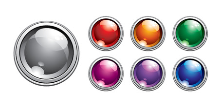 glass buttons Stock Vector - 9117485