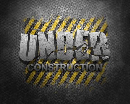 Under construction grunge background photo