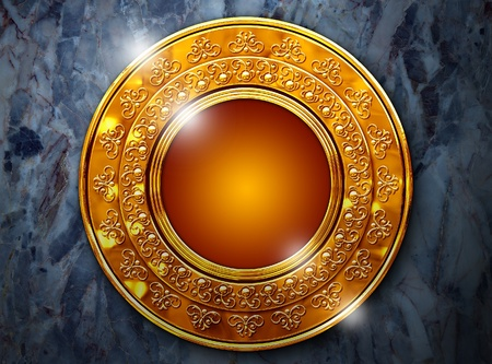 antique coins: A beautiful frame Stock Photo