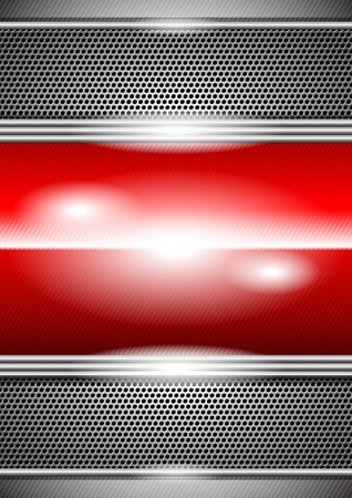 metal background Stock Vector - 9849119