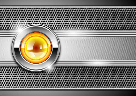 navigation bar: stylish metallic background  Illustration