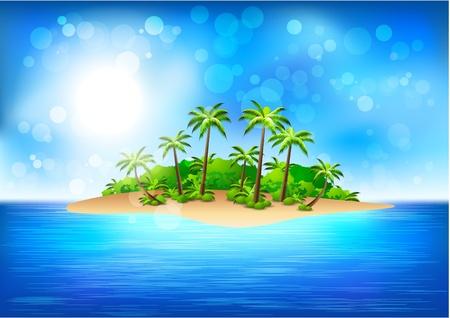 tropikalna wyspa  Ilustracje wektorowe