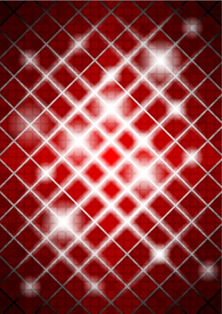 red background with squares Vector
