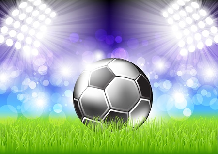 soccer stadium: Fondo de f�tbol  Vectores