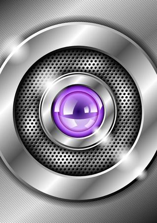 stylish metallic background Vector