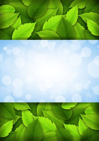 background with leaves and place for text