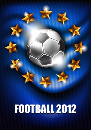 soccer balls: background with a soccer ball and stars