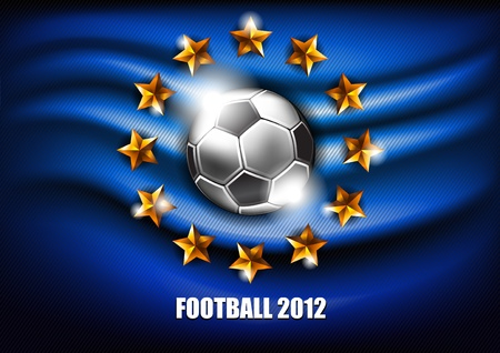 background with a soccer ball and stars