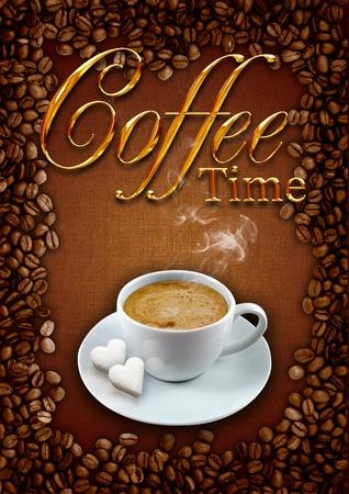 Coffee frame  photo