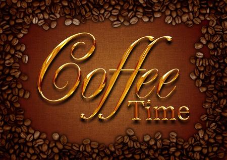 time flies: Coffee frame  Stock Photo