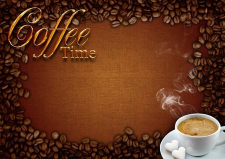 Coffee frame  Stock Photo