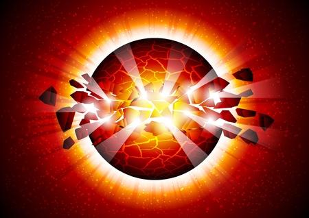 space explosion Illustration