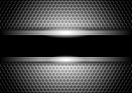 gradient: stylové kovové pozadí Ilustrace
