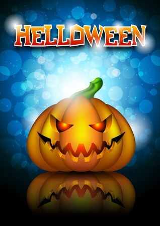 Halloween blue background Illustration