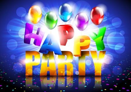 happy party Illustration