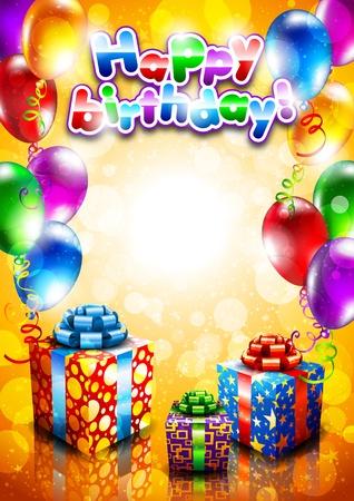 globos de cumplea�os: feliz cumplea�os Vectores