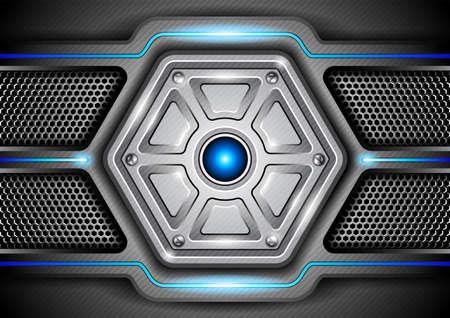 Abstract metal background  Vector illustration Illustration