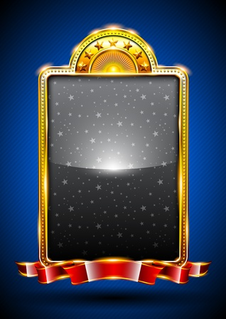 background with golden frame