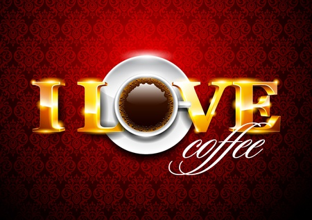i love coffe Vector