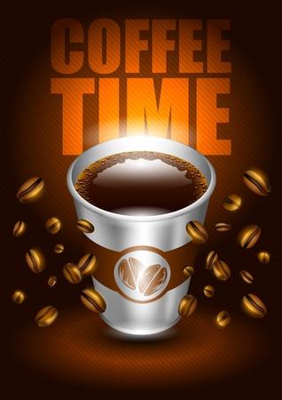 visz: kávé idő Illusztráció