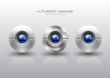 camera shutter: futuristic sensor