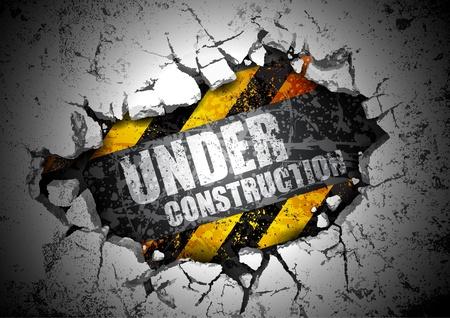 bajo construcción Ilustración de vector