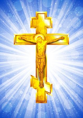 golden Cross Stock Vector - 12807671