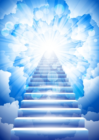 light tunnel: stairway to heaven